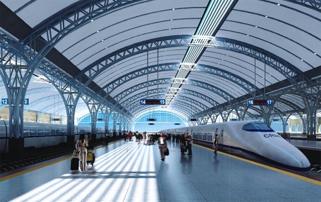 铝单板工程案例-汉口火车站