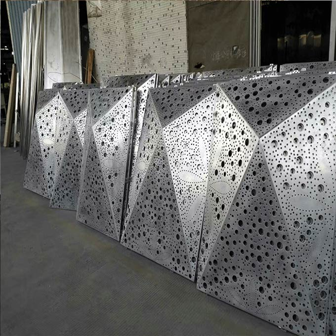 穿孔铝单板幕墙具有高耐腐蚀性的金属材料